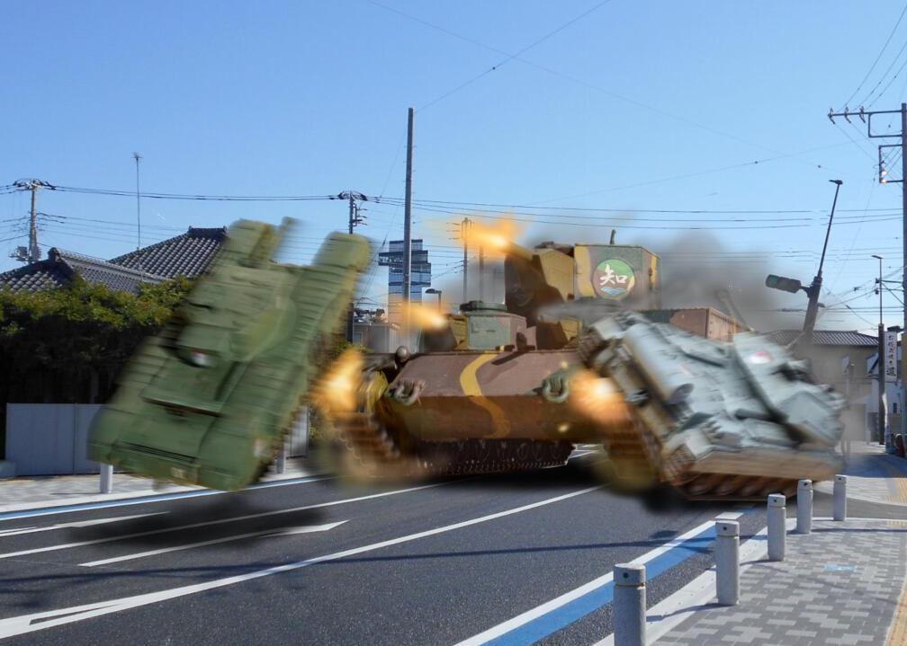 劇場版 ガルパン 知波単学園 試製重戦車オイ